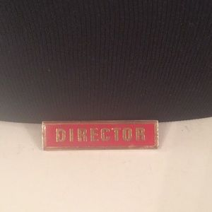 Vintage Red & Gold Director Lapel Pin